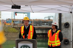 U.S. Congressman Derek Kilmer (WSDOT) Tags: th pontoons kgm floatingbridge sr520 stateroute520 wsdot washingtonstatedepartmentoftransportation floatingbridgeandlandingsproject