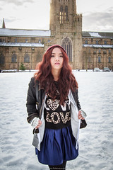 Snow is melting so it's good time to go out (maipatana) Tags: uk light red portrait sunlight snow cute castle girl beauty up stone wall canon hair back outfit warm day durham cathedral natural young thai 7d mm usm 1022mm outfits warming 1022 guru canonefs1022mmf3545usm f3545 efs1022mmf3545usm ootd 10223545 canon1022mm3545usm canoneos7d youtuber canon7d warming1up