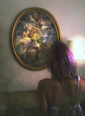 Mirrored Insides (jac brody) Tags: light home girl female mirror bedroom space dream things nebula seeing dreams wishes imagination outer wish purplehair texturebybrookeshaden