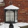 (tarabunnyears) Tags: light snow lamp outdoorlight