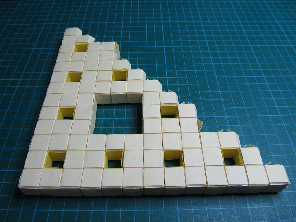 Sierpinski Carpet 3d Level 1st Corner PankOri Tags Origami Jackson Cube Fractal