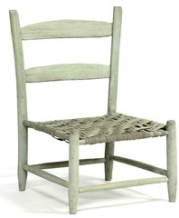 6. NC Appalachain Painted Low Chair