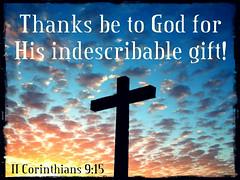 II Corinthians 9:15 (joshtinpowers) Tags: corinthians bible scripture