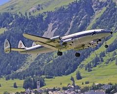 EngadinAirport SMV/LSZS: HB-RSC Lockheed Constellation Starliner (C69/C-121) (Roland C.) Tags: lockheed starliner engadin constellation c121 smv c69 engadinairport hbrsc lszs
