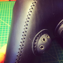 Propper stitching. - [x] #postapocalyptic #postapocalypse #steampunk #steampunkmask #leathermask #handmade #LARP #plaguedoctor #plaguedoctormask #dieselpunk #dark #Leather #costume #cosplay (tovlade) Tags: face mask cyberpunk cyber goth make up goggles girl punk postapocalyptic postapocalypse black steampunk leather hand made larp cybergoth dieselpunk plague doctor