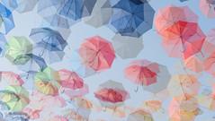 Schirme_14375 (riga51) Tags: august2016 schirme doppelbelichtung sommer sonnenschirme regenschirme fujixt10 umbrella sunumbrellas summer