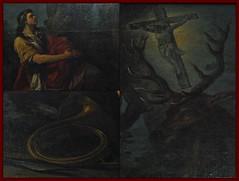 6 - Rambouillet, glise Saint-Lubin-et-Saint-Jean-Baptiste, La conversion de Saint Hubert - Carle Van Loo - 18me sicle - Dtails (melina1965) Tags: aot august 2016 ledefrance yvelines nikon d80 macro macros glise glises church churches rambouillet peinture painting