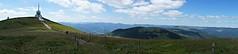 Le Grand-Ballon (Alt : 1424m) (Philippe Haumesser Photographies) Tags: outside paysages landscape landscapes montagne montagnes mountain mountains ciel sky nuages clouds sentier path clture fence radar panorama panoramique grandballonvosgesalsaceelsassfrancehautrhin68sony ilce6000sony alpha 6000 sony 2016 prairie meadow horizon