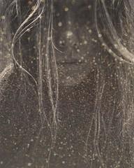 image (delistjanova) Tags: sparkles magic stardust monochrome blackandwhite surreal people black background portrait gold bw glow soulglow shine glitters lights