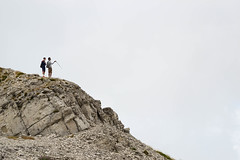 hikers on top (Lornzo) Tags: hiker excursion trip montevettore vettore sibillini marche italy cloudy cloudyday clouds peak top mountain rocks people wow amazing silhouette nature