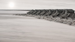 Under the desert sun (OR_U) Tags: 2016 oru uk liverpoolbay newbrighton wind weather bulwark widescreen 169 instanzia desertfox photoshopped monochrome