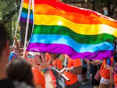 Charlotte Pride Parade (Vincent F Tsai) Tags: parade charlotte nc pride flag crowd celebration colorful leicadgnocticron425mmf12 panasonic lumixg7