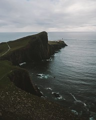 How far west can you go before it becomes east? Well, quite far more west than Neist Point but I'd like to hear Kanye and Jaden Smith having a discussion about that. (regnumsaturni) Tags: landscape nature travel explore wanderlust outdoors mountain forest vsco vintage