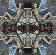 2016-08-25 symmetrical french nude paintings 1 (april-mo) Tags: symmetry symmetrical nude nu painting experimentaltechnique collage art womanportrait
