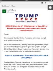Shut it down, Hillary! Donald Trump Clinton Foundation email #Trump #DonaldTrump (Steve Rhodes) Tags: trump donaldtrump