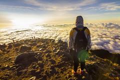 Recibiendo el sol en medio del cielo y la tierra (hacer fotografa es toda mi vida) Tags: cimavolcntajumulco tajumulcovolcano guatemala volcnmsaltodecentroamrica landscapes sunrise clouds eternal wonder sun visitguatemala