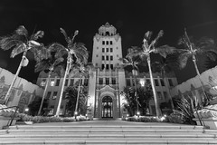 Beverly Hills CIty Hall (JMG Images) Tags: beverlyhills cityscape bw night