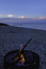 campfire (TAC.Photography) Tags: campfire firepit sand ahoreline huronlake dusk coloredsky