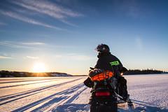 Lake Patrols (2016) (VRileyV) Tags: lake frozen frozenlake skidoo sunset winter northwestterritories 2016