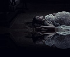Reflection of inner life (Sus Blanco) Tags: reflection life pregnant butterflies freedoom darkart surreal conceptual fineart white nature