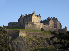 Edinburgh Castle and Ramparts (chrisdingsdale) Tags: castle fort fortress landmark architecture hill cliffs rock walls ramparts defenses building structure old medieval historic gunports feudal royal military defensive stone scenic destinationscenic rocky protection edinburgh scotland nobody