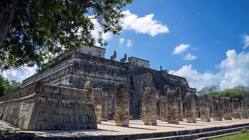Chichen Itza  Temple of the Warriors or Temple of the Thousand Columns