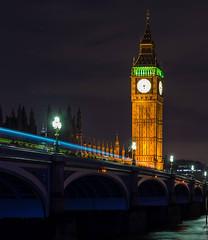 Big Ben (Meander Khedekar) Tags: night light clock tower bridge water river d600