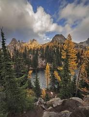 Blue Lake, North Cascades Highway 2 (i8seattle) Tags: bluelake northcascadeshighway northcascades larch subalpinelarch fallcolors