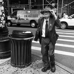 Clarence (ShelSerkin) Tags: shotoniphone hipstamatic iphone iphoneography squareformat mobilephotography streetphotography candid portrait street nyc newyork newyorkcity gothamist blackandwhite