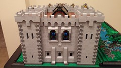 Keep - Back view (reztam) Tags: lego castle keep stained glass windows modular moc