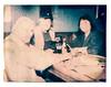 Eva, Bob, and Beverly at The Hotsy Totsy Club (2812 photography) Tags: polaroidlandcamera california portrait haveadrink ©peterrosos utata:project=godrinking fujifimfp100c utata:entry=5 eastbay instantfilm localbar negativereclamation analog film