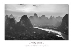 ... misty layers ... (liewwk - www.liewwkphoto.com) Tags: sunset white black misty canon river yangshuo  lijiang   5dmark2   canon5dm2 liewwk httpliewwkmacroblogspotcom wwwliewwkphotocom  wwwliewwkphotocomblog