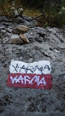 KARMA/KARMA (Chandra Siri) Tags: rock writing walking walk writer massiveattack karma karmacoma karmakarma walkinginbeauty