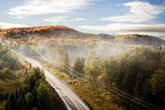 Morning (Billy Wilson Photography) Tags: road ontario canada fog train tour hills bellevue agawa algoma bellevuetrestle