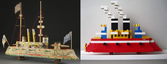 SS LEGO Warship (Loopdeeloop) Tags: wood vintage paper toy boat sam lego uncle warship litho