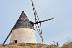 A Modern Don Quixote (Alessandro Omassi) Tags: windmill spain andalucia donquixote 2012 sanjosè playadelosgenoveses cabodegatanijar
