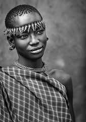 Miss Domoget, Bodi Tribe Woman With Headband, Hana Mursi, Omo Valley, Ethiopia (Eric Lafforgue) Tags: africa portrait people blackandwhite woman haircut art girl beautiful beauty vertical proud youth outside photography necklace clothing day outdoor traditional young culture pride jewelry tribal ornament beautifulwoman teenager omovalley tradition ethiopia tribe pastoral ethnic hairstyle beautifulpeople bodymodification oneperson headband jewel onepeople determination traditionalculture headwear hornofafrica ethnology bodi omo eastafrica onepersononly traditionalclothing realpeople beautify meen oneyoungwomanonly waistup oneteenagegirlonly africanethnicity pastoralist pastoralism onegirlonly oneyounggirl snnpr bodytransformation oneadult southernnationsnationalitiesandpeoplesregion oneteenageronly ethiopianethnicity oneteenager hanamursi eth7519