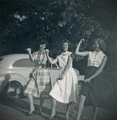 Dixie Chicks (BKHagar *Kim*) Tags: girls vintage mom three al cool jean group alabama betty scan dresses scanned tanner faye bkhagar
