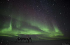 Almighty Lights (Ed.Stockard) Tags: sky snow cold ice night stars glacier arctic aurora summit northernlights auroraborealis summitstation icesheet