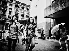 Plaza Lacson (Meljoe San Diego) Tags: bw women candid grain streetphotography photowalk ricoh grd4 meljoesandiego grdiv