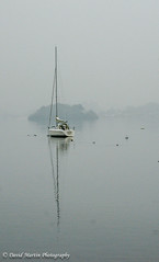 Yacht on Windermere (Midgehole Dave) Tags: mist reflection water yacht lakedistrict windermere yahoo:yourpictures=waterv2 yahoo:yourpictures=reflectionsv2