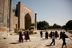 View of the Registan  Samarkand (barankie) Tags: asia muslim islam central mosque samarkand registan medresa