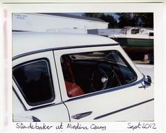 Studebaker at Medina Quay (Fujifilm FP-100C) (Chi Bellami) Tags: colour film polaroid scan scanned instant epson fujifilm studebaker packfilm 4990 peelapart fp100c polaroid180 landcameramodel180 epsonperfection4990 chibellami