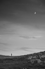 empty worlds (Rain...) Tags: light blackandwhite bw moon blancoynegro clouds composition landscape photography shadows sundown empty paisaje luna bn human f figure worlds luis lopez solitary mundos sombras solitario cantabria endoftheworld suances composicin vacios nubles photographyrain