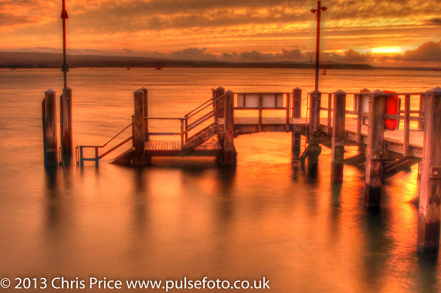 Sunset at Poole Harbour from the Pier at Sandbanks