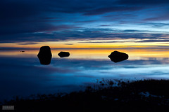 Late night reflection (Jokull) Tags: blue sunset sky orange lake black reflection water night dark island photo iceland rocks horizon lagoon photograph 1740mm icelandic traveltoiceland canoneos5dmkii plljkull cometoiceland