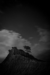 the peak (Andy Kennelly) Tags: bw motion tree broken night clouds dark stars star la sand san long exposure moody nightshot hill peak diego formation pines after jolla ridges torrey