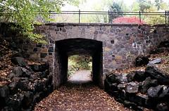 Stonework (Georgie_grrl) Tags: park bridge friend quebec path montreal stonework roadtrip adventure pentaxk1000 exploration cans2s rikenon12828mm anewplacetoexplore visitingjoann