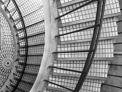 Stair Patterns (shaire productions) Tags: city urban blackandwhite bw abstract building geometric monochrome buildings photography photo blackwhite downtown pattern image patterns shapes monotone structure photograph metropolis grayscale shape imagery