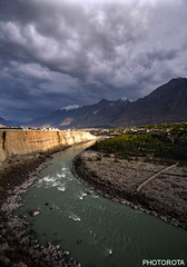EXCEPTIONAL LIGHT (PHOTOROTA) Tags: pakistan light mountain nature colors clouds canon river landscape flickr peak valley gilgit autofocus abid parbat photorota
